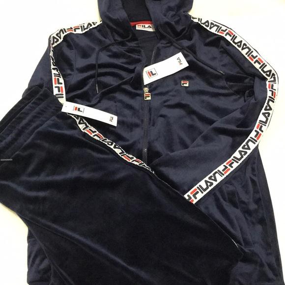 5fa4b6c604e8 Fila Tops   Nwt Velour Track Suit   Poshmark